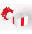 Open gift box vector image