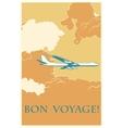 Retro airplane Bon voyage vector image