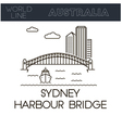 Sydney Harbour Bridg vector image