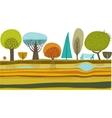 vector garden vector image