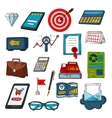 Finance business and investments sketch symbols vector image vector image