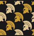 spartan warriors seamless pattern vector image