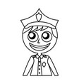 man police officer avatar character vector image