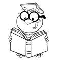 Cartoon owl teacher vector image vector image