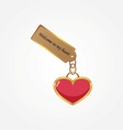 gold key with tag vector image