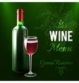 Wine Menu Template vector image