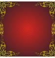 golden royal frame vector image vector image