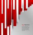 Abstract red white stripes on background vector image