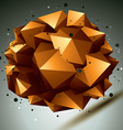 Geometric abstract 3D complicated lattice object vector image