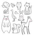 baby animal set vector image