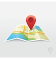 Road map GPS navigation vector image