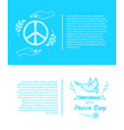 set of posters for international peace day vector image
