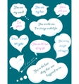 Set of Romantic Clouds with Declarations of Love vector image