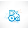 tractor grunge icon vector image