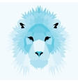 Blue low poly lion vector image