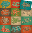 christmas vintage cards set vector image