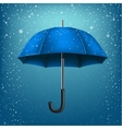 umbrella and azure snow background vector image