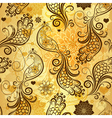 Gold repeating pattern vector image