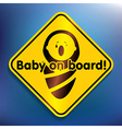 Baby on board sticker vector image