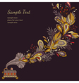 background autumn music vector image