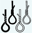 Rope noose with hangman knot vector image vector image