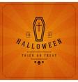 Vintage Happy Halloween Typographic Design vector image
