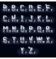 Metal vintage volumetric 3d chrome letters vector image