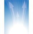arrows on blue vector image vector image