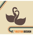 swan isolated design vector image