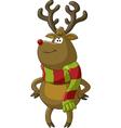 deer scarf vector image