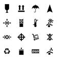 black marking of cargo icon set vector image