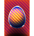 Abstract egg with heat map colors vector image