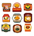 Asian Sweets Dishes Set vector image