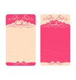 card Happy Valentines Day and wedding day vector image