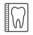 dental x-ray line icon stomatology vector image