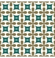 Flower and rhombus seamless pattern vector image