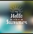 hand lettering inspirational poster say hello to vector image