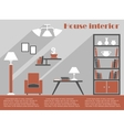 House interior design infographic template vector image