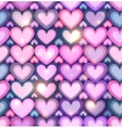 Light pink hearts shining seamless pattern vector image