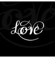 Love typography vector image