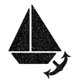 Seaport Grainy Texture Icon vector image