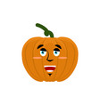 pumpkin happy emoji halloween and thanksgiving vector image