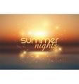 summer nights background 1407 vector image