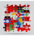 Puzzle flags vector image vector image