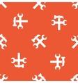 Orange repairs pattern vector image