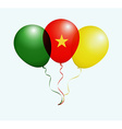 Balloons in as Cameroon National Flag vector image