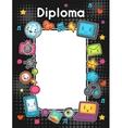 Kawaii gadgets social network diploma Doodles vector image vector image