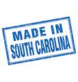 South Carolina blue square grunge made in stamp vector image