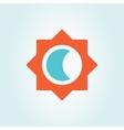 sun and moon logo vector image