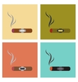 assembly flat icons cuba cigar vector image